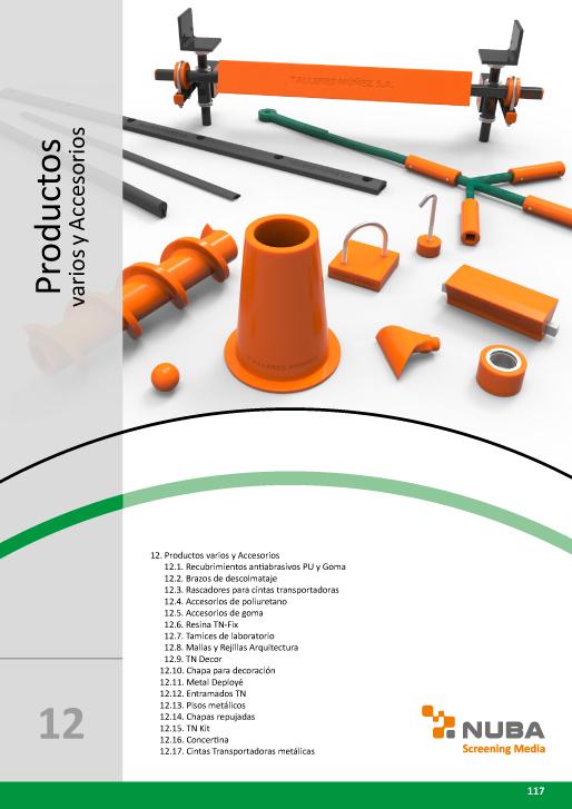 Descarga el Catálogo de Talleres Núñez en PDF de Productos varios y accesorios