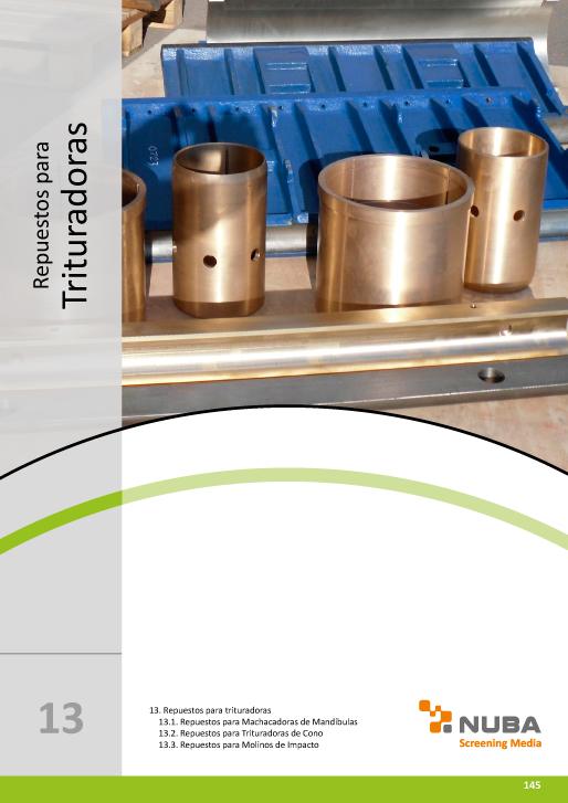 Descarga el Catálogo de Talleres Núñez en PDF de Repuestos para Trituradoras