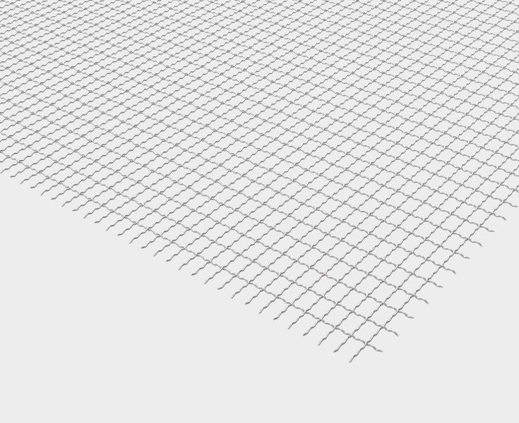 Malla met lica rectangular tipo b f extrafina ondulada Malla mosquitera metalica