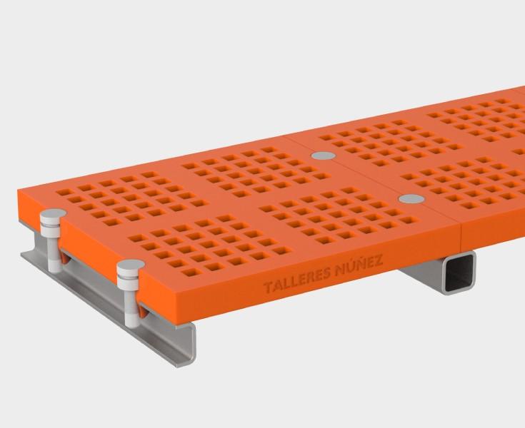 syst me modulaire en polyur thane vis mallas y cribas. Black Bedroom Furniture Sets. Home Design Ideas